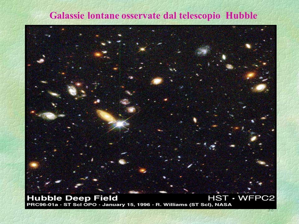 38 Galassie lontane osservate dal telescopio Hubble
