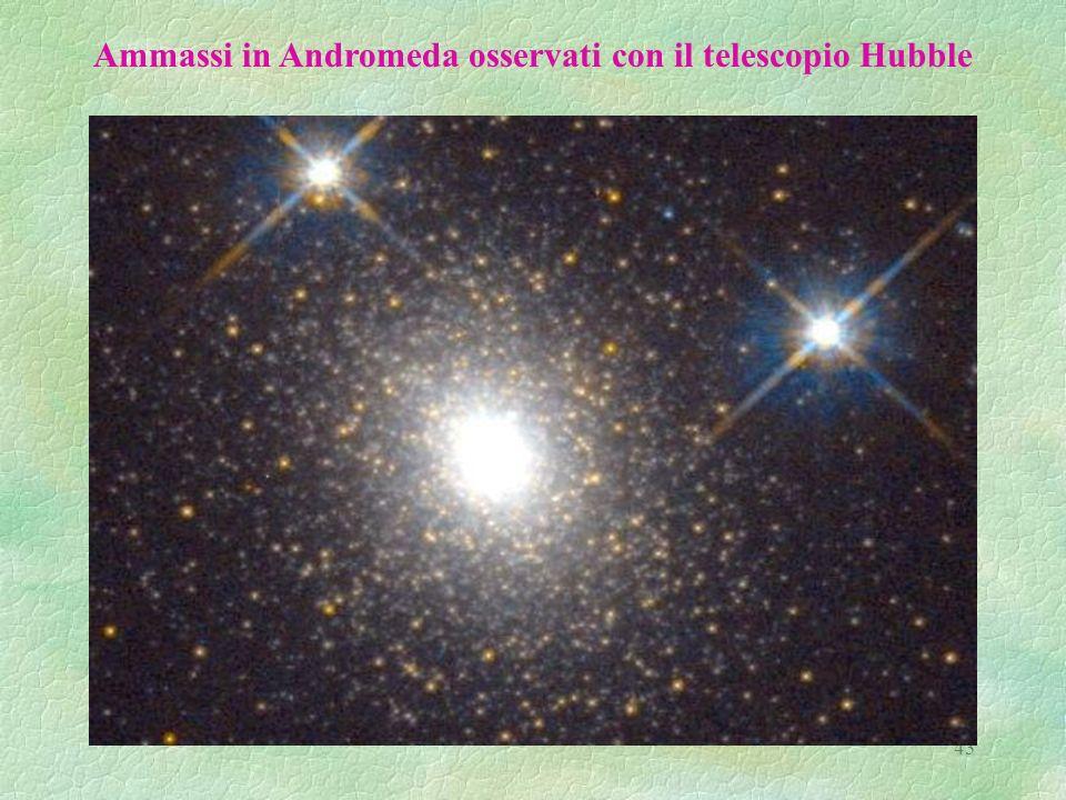 43 Ammassi in Andromeda osservati con il telescopio Hubble