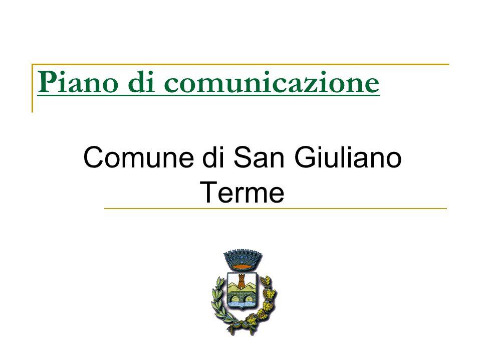 Piano di comunicazione Comune di San Giuliano Terme