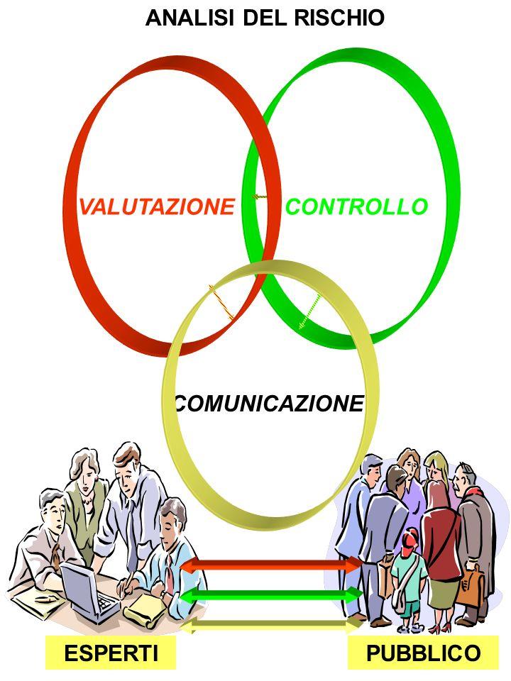 PUBBLICO ANALISI DEL RISCHIO CONTROLLO VALUTAZIONE COMUNICAZIONE ESPERTI