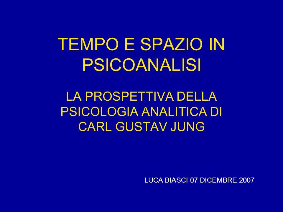 TEMPO E SPAZIO IN PSICOANALISI LA PROSPETTIVA DELLA PSICOLOGIA ANALITICA DI CARL GUSTAV JUNG LUCA BIASCI 07 DICEMBRE 2007