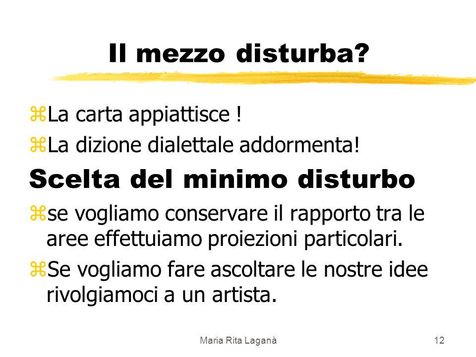 Maria Rita Laganà12 Il mezzo disturba. zLa carta appiattisce .