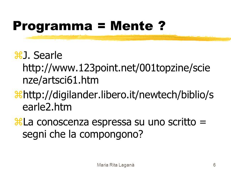 Maria Rita Laganà6 Programma = Mente . zJ.
