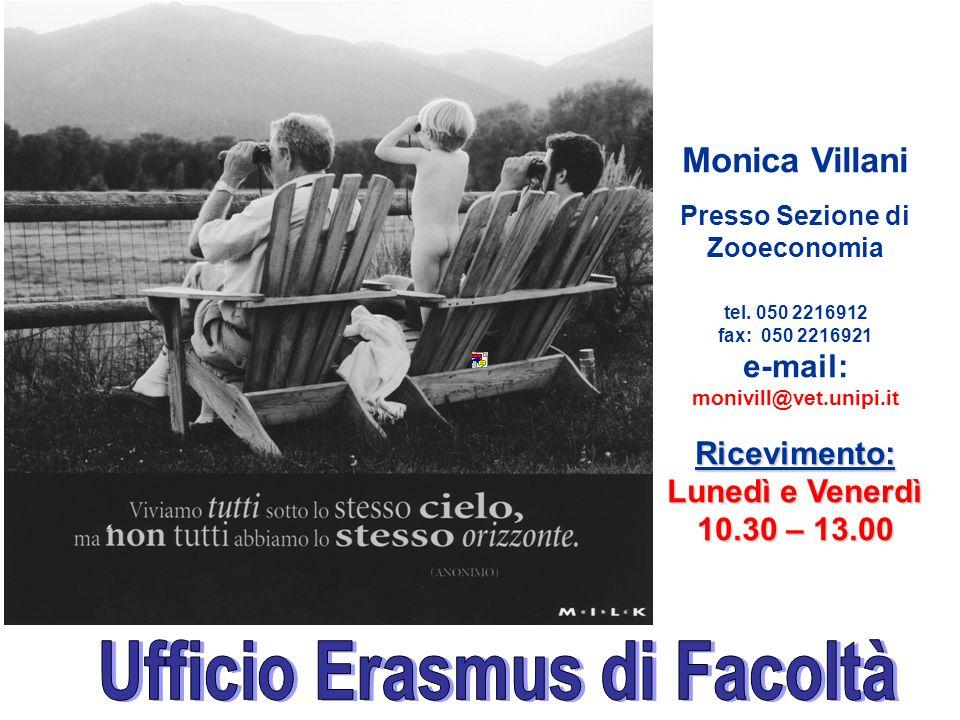 Monica Villani Presso Sezione di Zooeconomia tel.