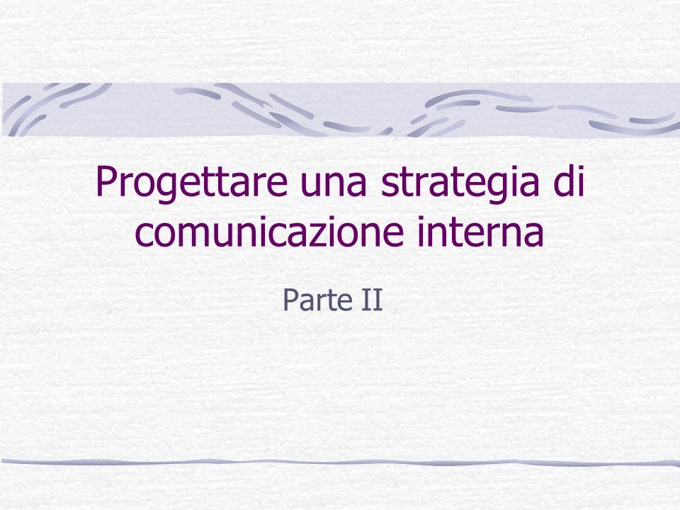 Progettare una strategia di comunicazione interna Parte II
