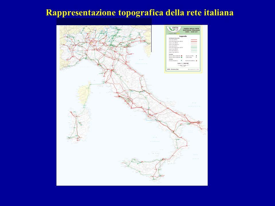 Rappresentazione topografica della rete italiana UNIVERSITÀ DI PISA