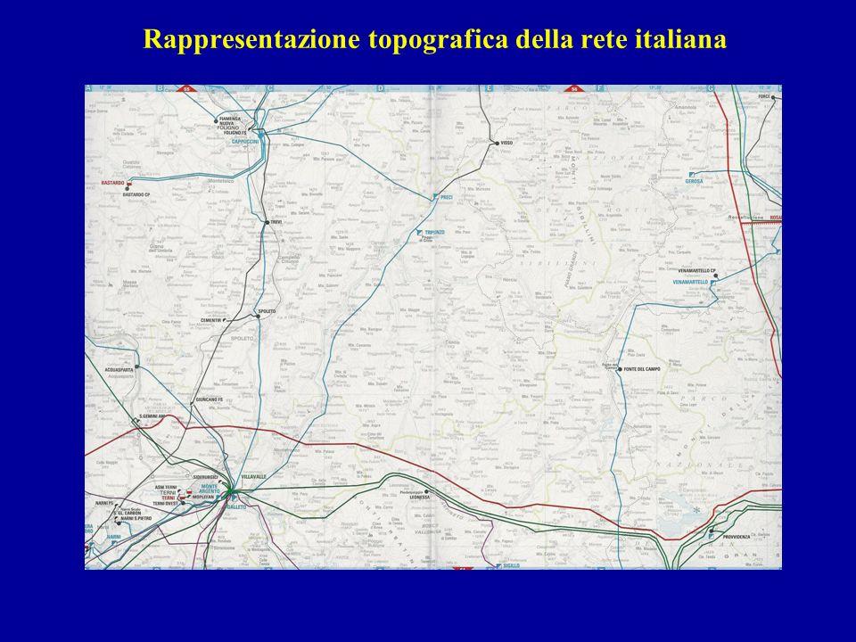 Rappresentazione topografica della rete italiana