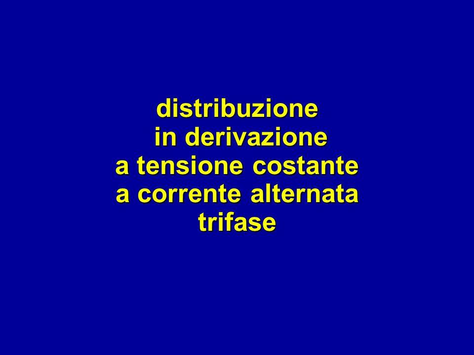 distribuzione in derivazione a tensione costante a corrente alternata trifase