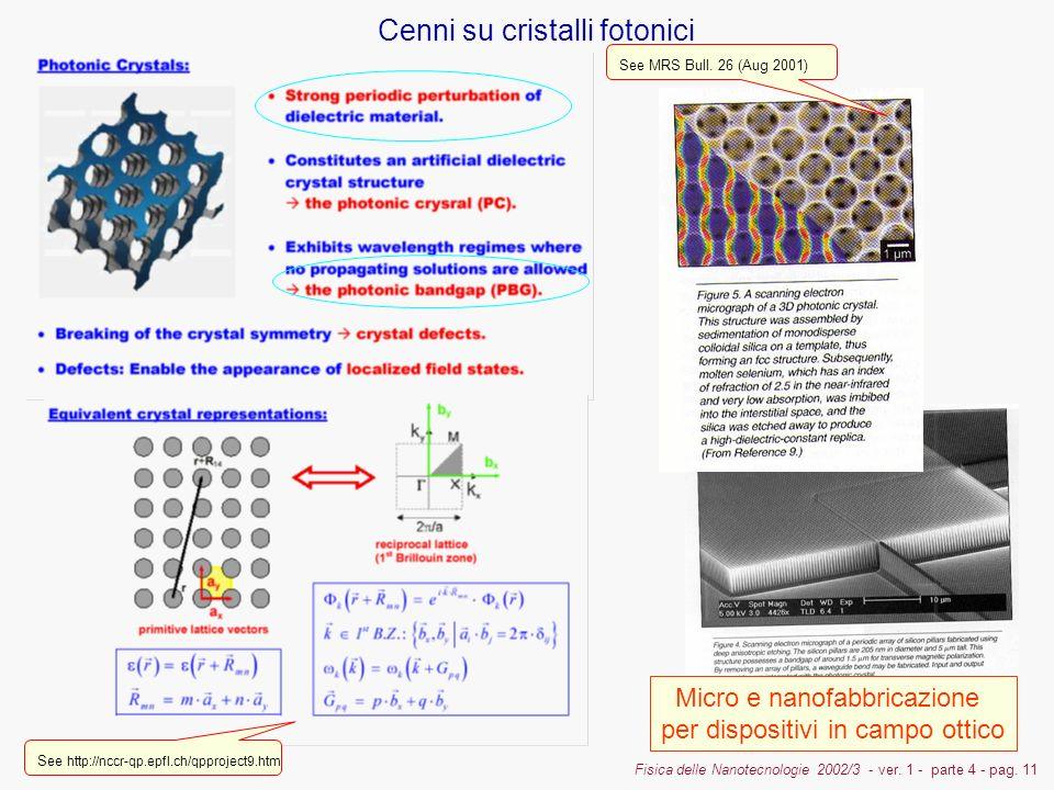 Fisica delle Nanotecnologie 2002/3 - ver. 1 - parte 4 - pag.
