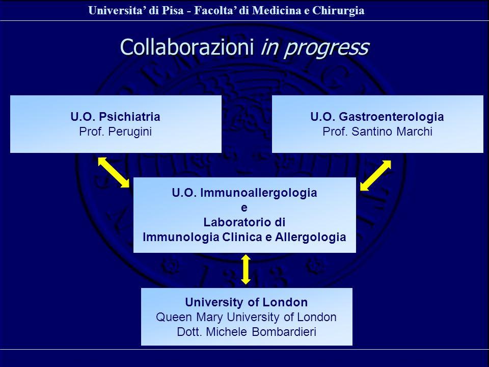 Universita di Pisa - Facolta di Medicina e Chirurgia U.O. Immunoallergologia e Laboratorio di Immunologia Clinica e Allergologia U.O. Psichiatria Prof