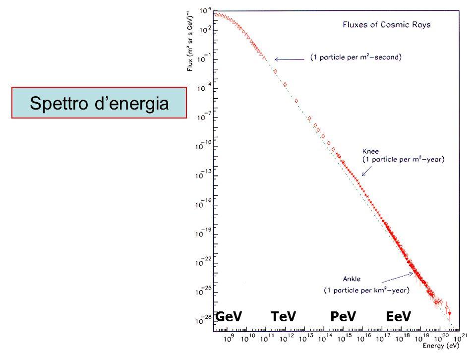 GeVTeVPeVEeV Spettro denergia