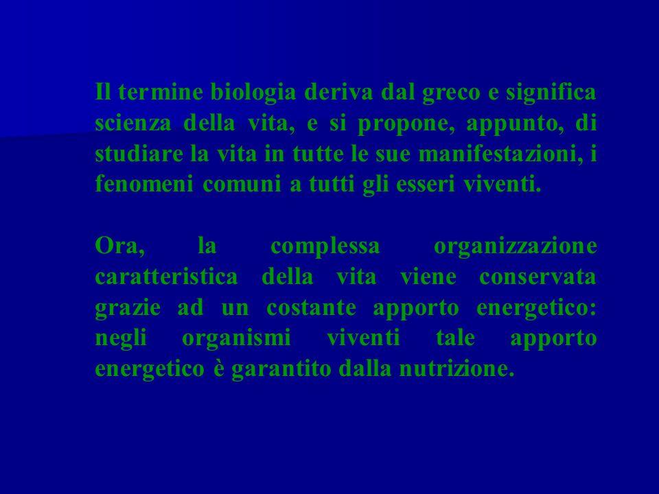 Il termine biologia deriva dal greco e significa scienza della vita, e si propone, appunto, di studiare la vita in tutte le sue manifestazioni, i feno