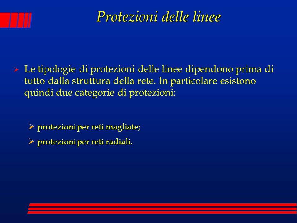 Le tipologie di protezioni delle linee dipendono prima di tutto dalla struttura della rete. In particolare esistono quindi due categorie di protezioni
