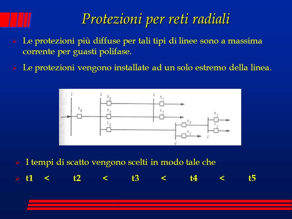 Le protezioni più diffuse per tali tipi di linee sono a massima corrente per guasti polifase. Le protezioni vengono installate ad un solo estremo dell