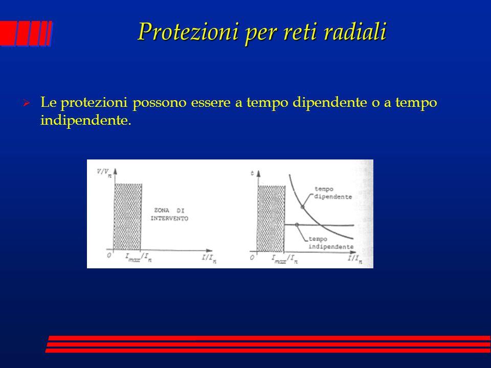Le protezioni possono essere a tempo dipendente o a tempo indipendente.