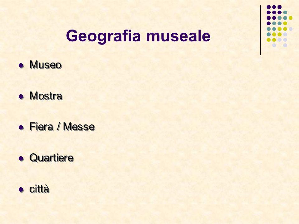 Geografia museale Museo Mostra Fiera / Messe Quartiere città Museo Mostra Fiera / Messe Quartiere città
