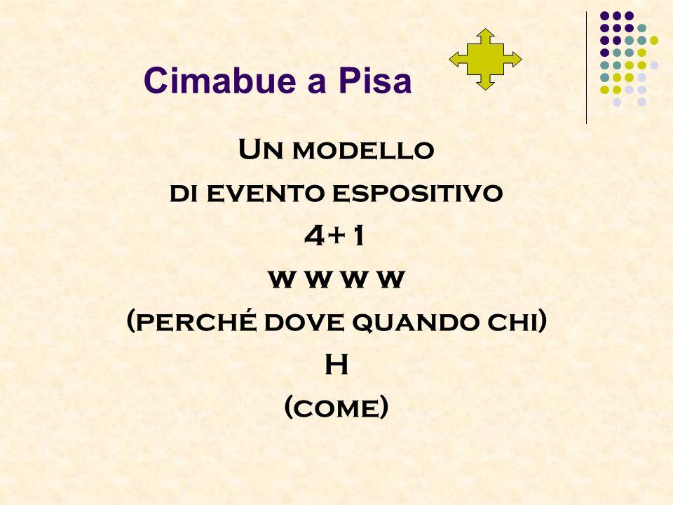 Cimabue a Pisa Un modello di evento espositivo 4+1 w w (perché dove quando chi) H (come)