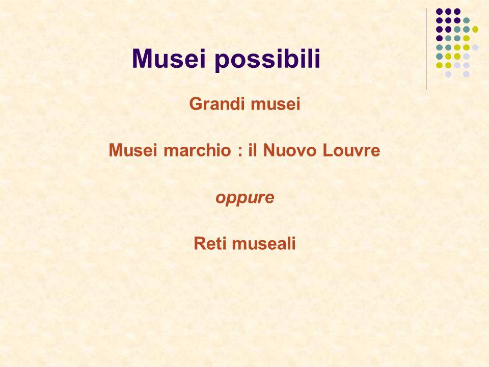 Musei possibili Grandi musei Musei marchio : il Nuovo Louvre oppure Reti museali