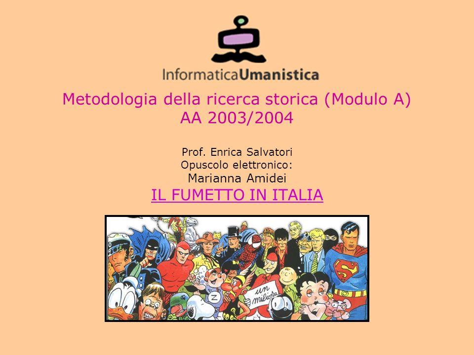 Metodologia della ricerca storica (Modulo A) AA 2003/2004 Prof.