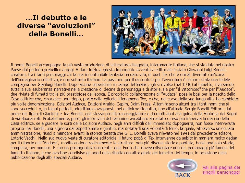 Il nome Bonelli accompagna la più vasta produzione di letteratura disegnata, interamente italiana, che si sia data nel nostro Paese dal periodo prebellico a oggi.