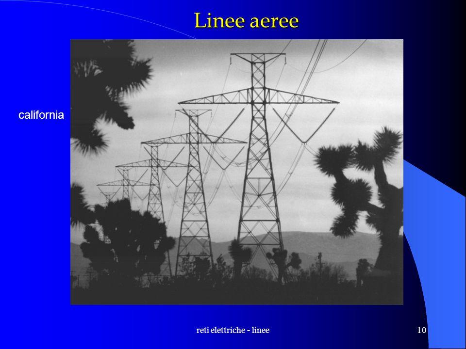 reti elettriche - linee10 Linee aeree california