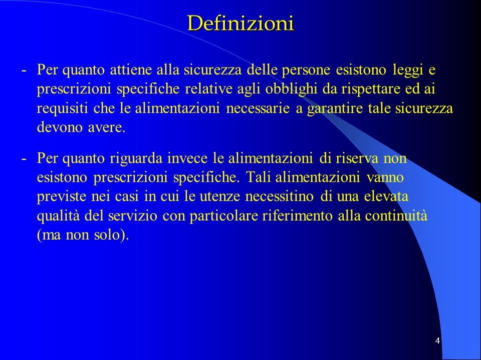 4 -Per quanto attiene alla sicurezza delle persone esistono leggi e prescrizioni specifiche relative agli obblighi da rispettare ed ai requisiti che l
