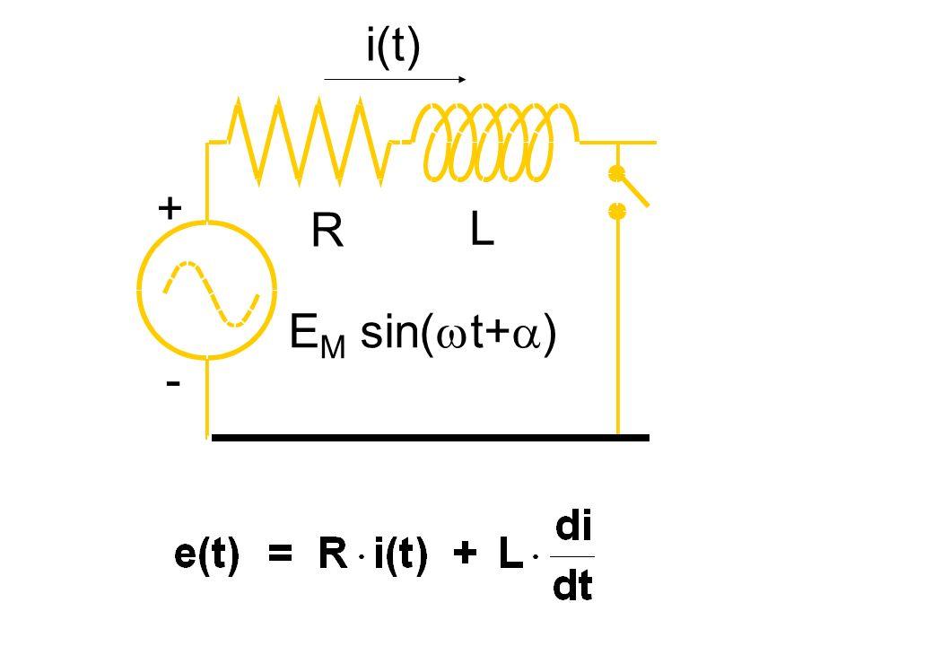 L R + - E M sin( t+ ) i(t)