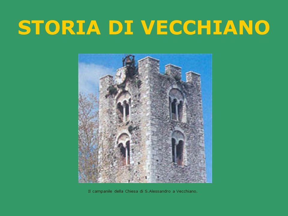 STORIA DI VECCHIANO Il campanile della Chiesa di S.Alessandro a Vecchiano.