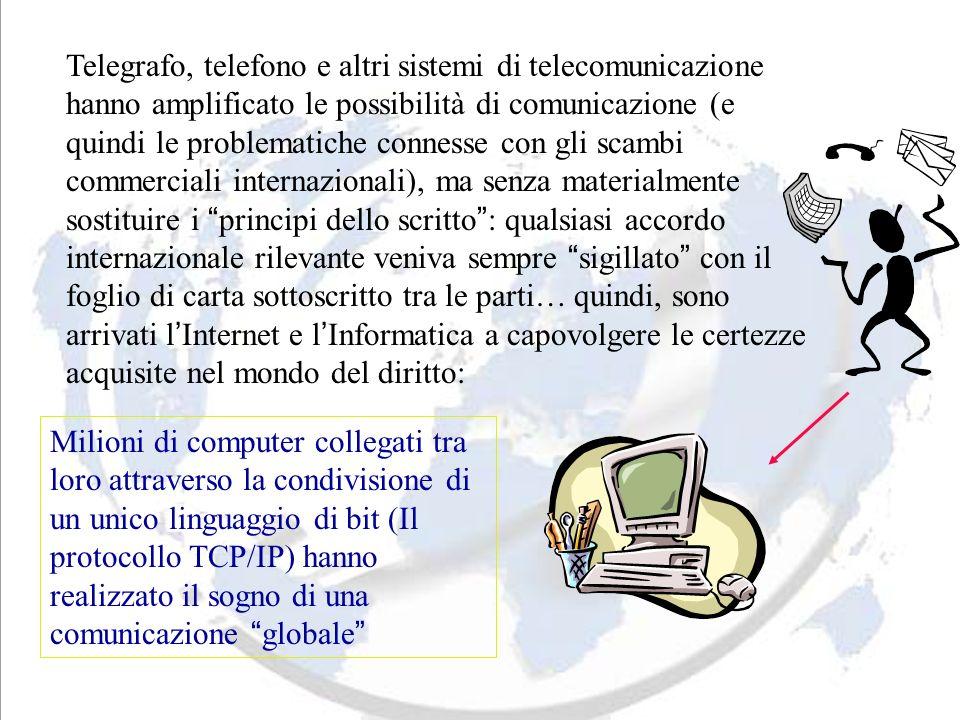 Telegrafo, telefono e altri sistemi di telecomunicazione hanno amplificato le possibilità di comunicazione (e quindi le problematiche connesse con gli