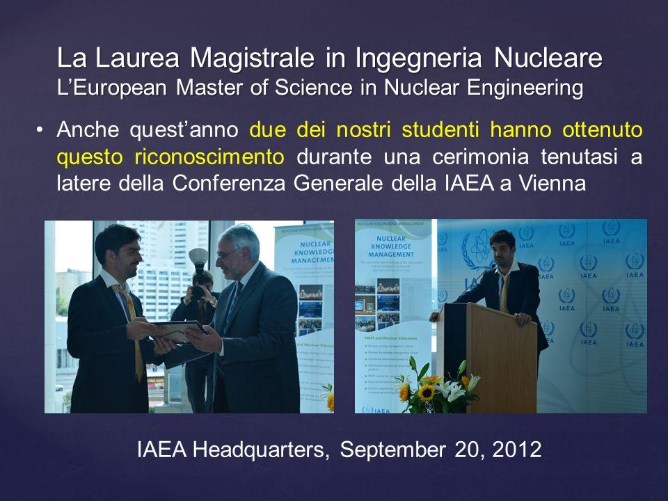 Anche questanno due dei nostri studenti hanno ottenuto questo riconoscimento durante una cerimonia tenutasi a latere della Conferenza Generale della I