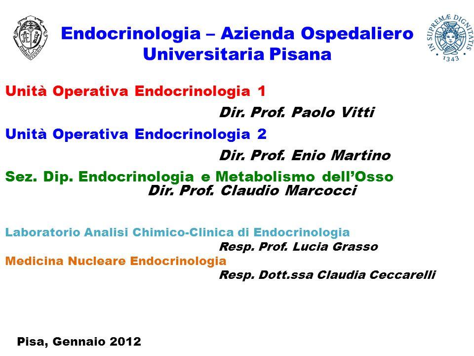 Endocrinologia – Azienda Ospedaliero Universitaria Pisana Unità Operativa Endocrinologia 1 Dir.