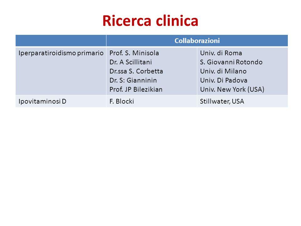 Collaborazioni Iperparatiroidismo primarioProf.S.