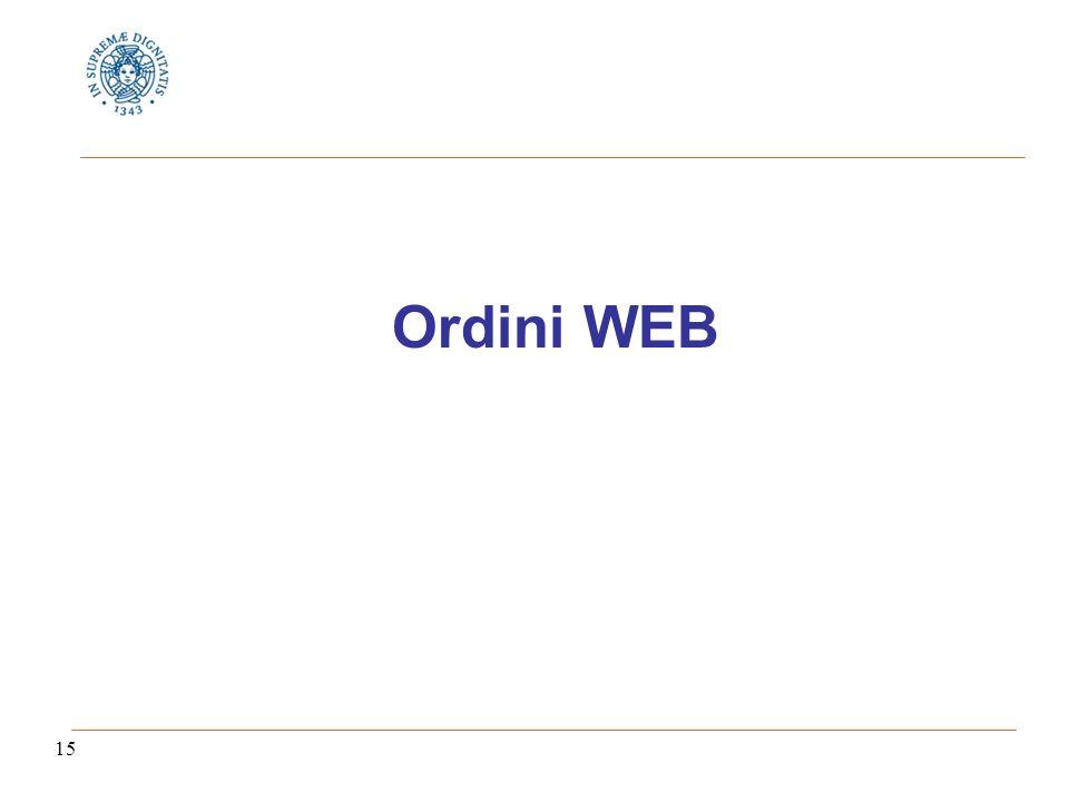 15 Ordini WEB