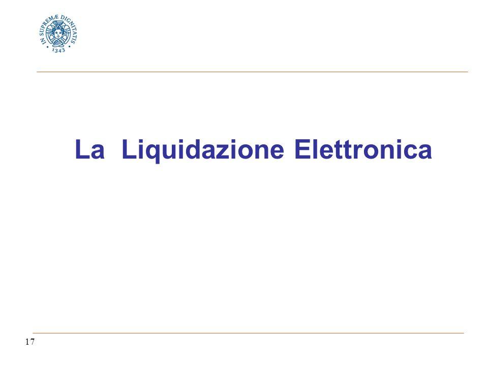 17 La Liquidazione Elettronica
