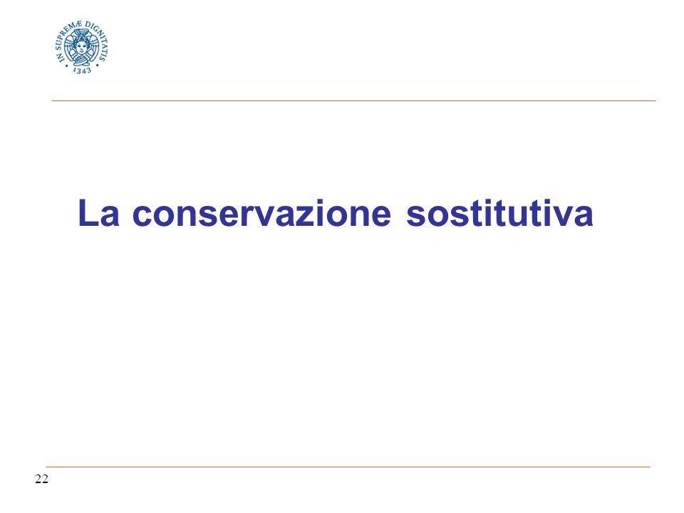 22 La conservazione sostitutiva
