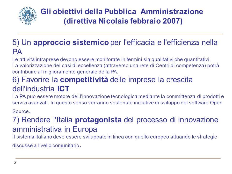 3 5) Un approccio sistemico per l efficacia e l efficienza nella PA Le attività intraprese devono essere monitorate in termini sia qualitativi che quantitativi.