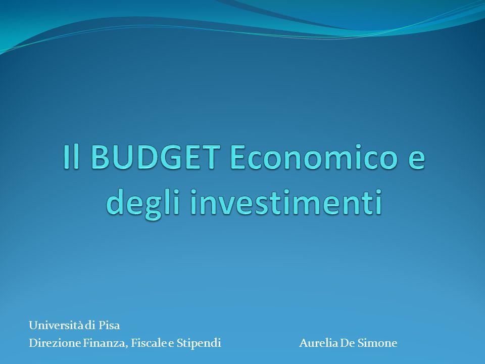 Università di Pisa Direzione Finanza, Fiscale e Stipendi Aurelia De Simone