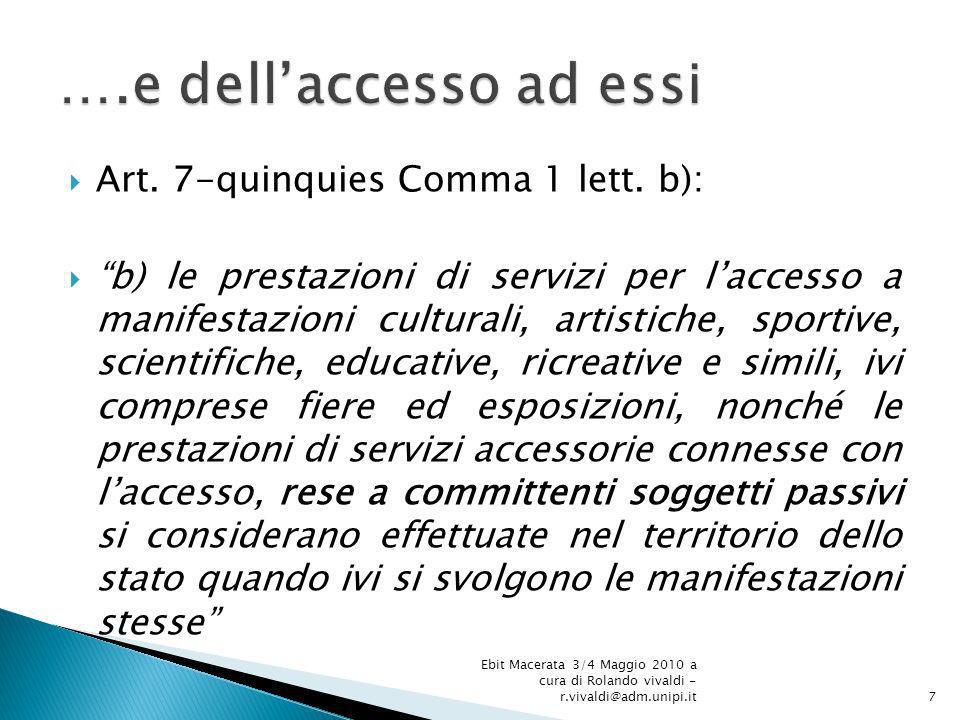 Art.7-quinquies Comma 1 lett.