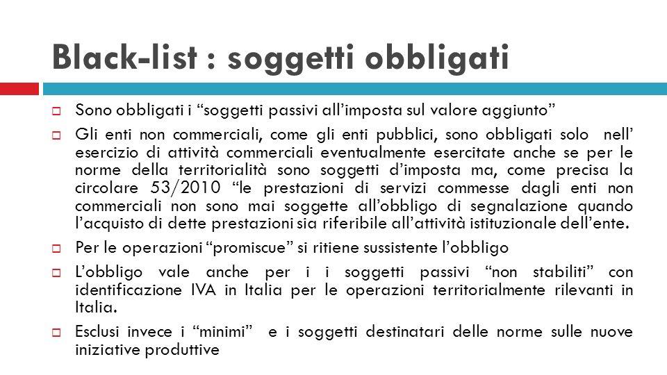 Le slides successive non riguardano gli enti pubblici In base al provvedimento 22 Dicembre 2010 prot.