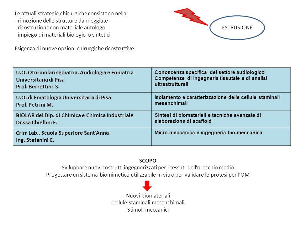 Le attuali strategie chirurgiche consistono nella: - rimozione delle strutture danneggiate - ricostruzione con materiale autologo ESTRUSIONE - impiego
