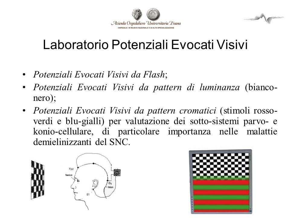 Laboratorio Potenziali Evocati Visivi Potenziali Evocati Visivi da Flash; Potenziali Evocati Visivi da pattern di luminanza (bianco- nero); Potenziali