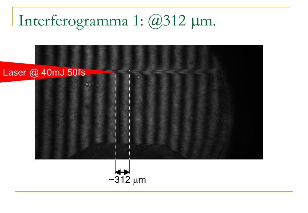 Interferogramma 1: @312 m. ~312 m Laser @ 40mJ 50fs