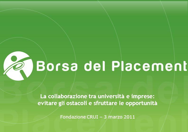 Fondazione CRUI – 3 marzo 2011 La collaborazione tra università e imprese: evitare gli ostacoli e sfruttare le opportunità