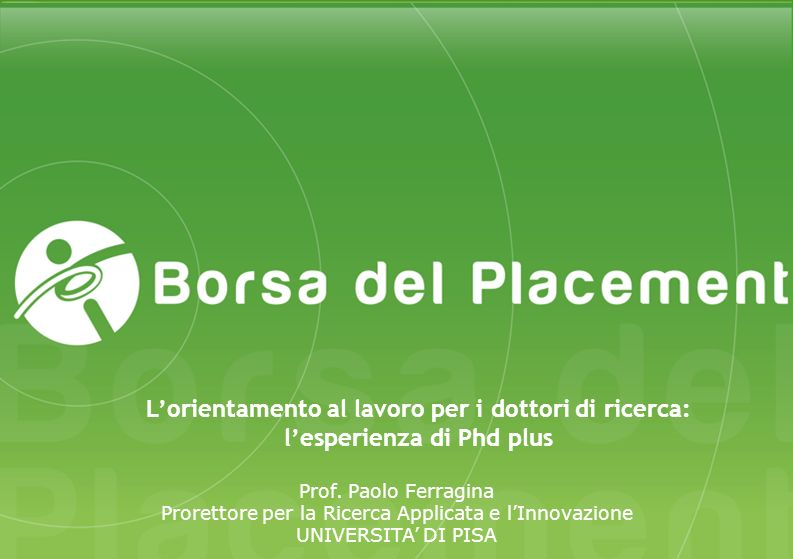 Comunicazione «Fostering Entrepreneurial Mindsets through Education and Learning» (Commissione Europea, 2006): «Universities and technical institutes should integrate entrepreneurship as an important part of the curriculum, spread across different subjects, and require or encourage students to take entrepreneurship courses.