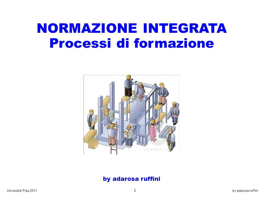 by adarosa ruffiniUniversità Pisa 2011 1 NORMAZIONE INTEGRATA Processi di formazione by adarosa ruffini