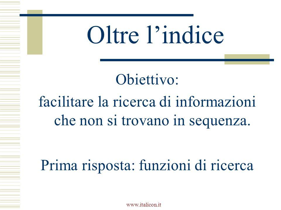 www.italicon.it Tipi di navigazione Allinterno del sito Allesterno del sito