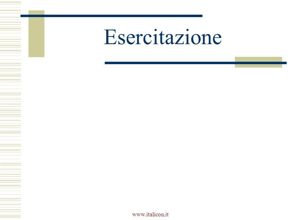 www.italicon.it Esercitazione