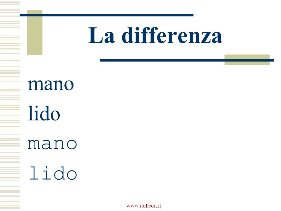 www.italicon.it La differenza mano lido mano lido