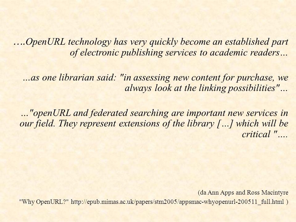 Che cosa fa il Resolver elabora i metadati appronta il menù dei servizi da proporre all utente accede ai Target