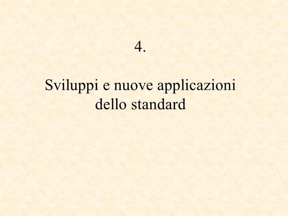 4. Sviluppi e nuove applicazioni dello standard